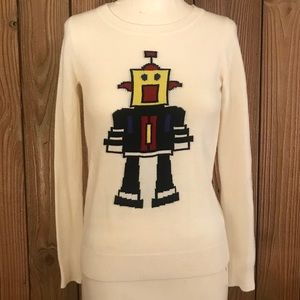 🤖Love By Design Robot Off White Sweater🤖